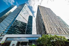 IQ-quarter — multifunctional complex located on the 11th section of the Moscow international  business center. stock images