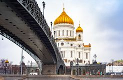City the Moscow .the Main attraction of the city .the Cathedral of Christ the Savior. City the Moscow .the Main attraction of the city.the Cathedral of Christ royalty free stock photography