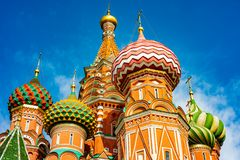 City the Moscow .the Main attraction of the city .Red square,Cathedral of Christ the Saviour. City the Moscow .the Main attraction of the city.Red square royalty free stock photos