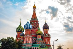City the Moscow .the Main attraction of the city.Red square, St. Basil`s Cathedral. City the Moscow .the Main attraction of the city.Red square,St. Basil`s royalty free stock images