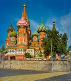 City the Moscow .the Main attraction of the city.Red square , St. Basil s Cathedral. 22.09.2018. City the Moscow .the Main attraction of the city.Red square,St royalty free stock image