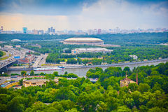 City of Moscow. Moscow River Stock Photo