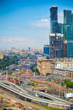 City of Moscow, the Third Ring Road and the business center Royalty Free Stock Photos
