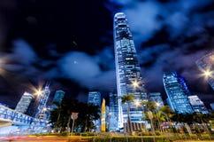 Motion blur of traffic in Hong Kong Stock Photos