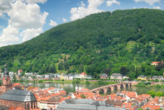 City in a mountain valley Royalty Free Stock Photography