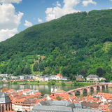 City in a mountain valley Royalty Free Stock Image