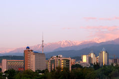 City and  mountains Royalty Free Stock Images