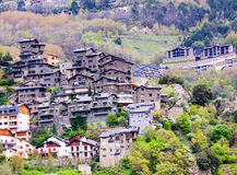 City at mountains. Andorra la Vella. City at mountains. Pyrenees, Andorra la Vella royalty free stock photo