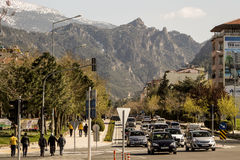The city and mountains. Royalty Free Stock Photos