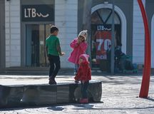 The city in movе, The playing children Stock Photography