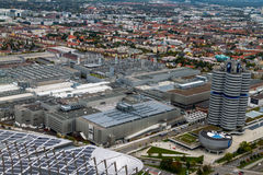 City of Munich with BMW Headquarters and Factory Stock Image