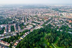 City Municipality of Bremen Aerial FPV drone footage. Bremen is. A major cultural and economic hub in the northern regions of Germany Royalty Free Stock Photography