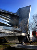 City of Music - Paris. Cité de la Musique City of Music, renamed Philharmonie 2 in 2015, is a group of institutions dedicated to music and situated in the Parc Stock Photo