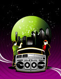 City music vector royalty free illustration
