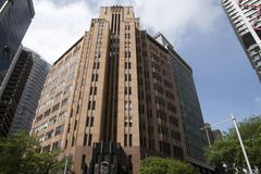 The City Mutual Assurance Building one of Australia`s most significant Art Deco building built in 1936 stock photos