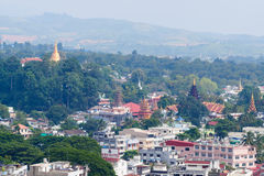 City of myanmar. Top view from Maesai thailand Royalty Free Stock Image