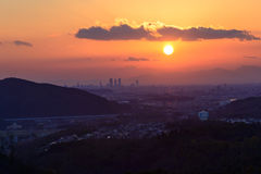 The City of Nagoya at dusk Royalty Free Stock Photography