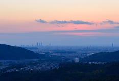 The City of Nagoya at dusk Stock Images