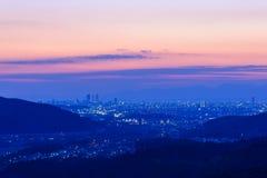 The City of Nagoya at dusk Stock Photo