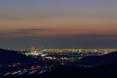 The City of Nagoya at dusk Royalty Free Stock Photography