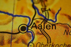 The city name AALEN on the map. The city name AALEN,  Germany, on the physical map of the country Stock Images