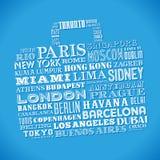 City names Bag Design Stock Photos