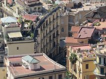The city of Naples from above. Napoli. Italy.  Royalty Free Stock Images