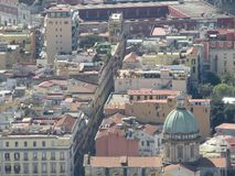 The city of Naples from above. Napoli. Italy.  Royalty Free Stock Image