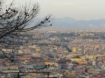 The city of Naples from above. Napoli. Italy. Vesuvio volcano behind. The city of Naples from above. Napoli. Italy. Vesuvio volcano behind Royalty Free Stock Photos