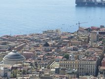 The city of Naples from above. Napoli. Italy. Vesuvius volcano behind. The city of Naples from above. Napoli. Italy. Vesuvius volcano behind Stock Photos