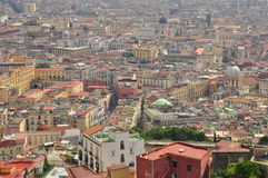 City of Naples, aerial view of the city centre Royalty Free Stock Image