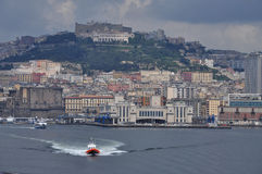 City of Naples, main harbour and city view Stock Photography