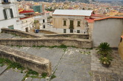 City of Naples, Pedementina steps and city view Stock Photos