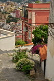City of Naples, Pedementina steps and city view Royalty Free Stock Photo