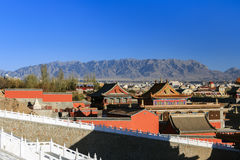 City of nature. A city built in Gobi In ancient times it was an important military fortress .The emperor built a luxurious palace for the officials who were Stock Photo