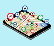 City navigation app Royalty Free Stock Images