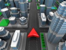 City navigation Stock Photography