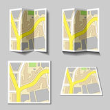 City navigation map icons Stock Photography