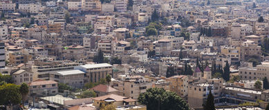 The city of Nazareth. Israel Royalty Free Stock Photo