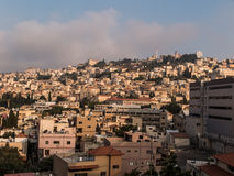 City of Nazareth panoramic view, Israel Royalty Free Stock Images