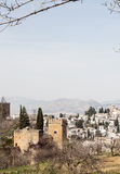 City near Alhambra in vertical Stock Photography