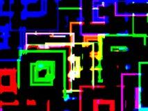 City neon reflections stock photo