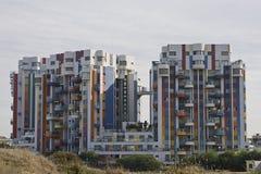 The city of Netanija-1. Color complex in the city of Netanija, Israel royalty free stock photos