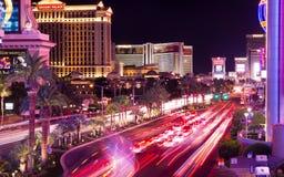City that never sleeps. Las Vegas traffic at night Stock Photo