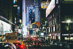 City that Never Sleeps Stock Images