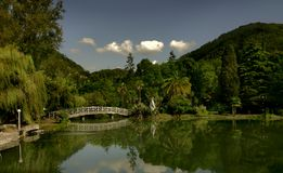 City of New Afon in Abkhazia - an ancient greek ci. Lake in the city of New Afon Abkhazia Stock Images