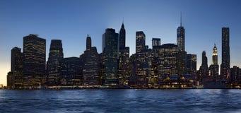 city new night york Στοκ εικόνες με δικαίωμα ελεύθερης χρήσης