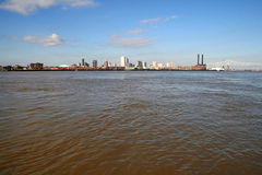 City of New Orleans from the Mississippi River Royalty Free Stock Photography
