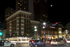 The city  New Orleans at night Stock Image