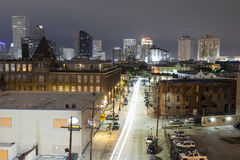 City of New Orleans at night Royalty Free Stock Photography